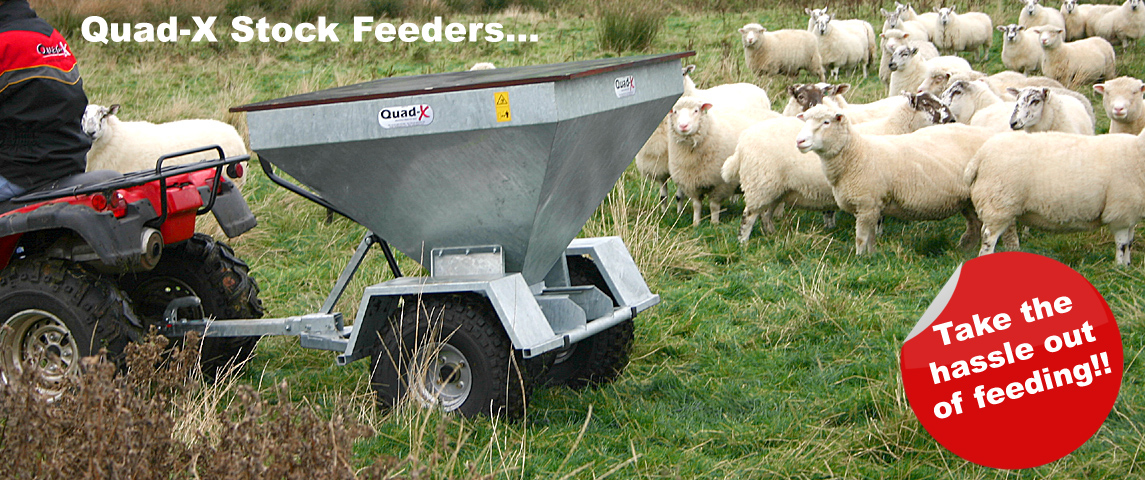 Quad-X Stock Feeders - Takes the hassle out of feeding this winter!!