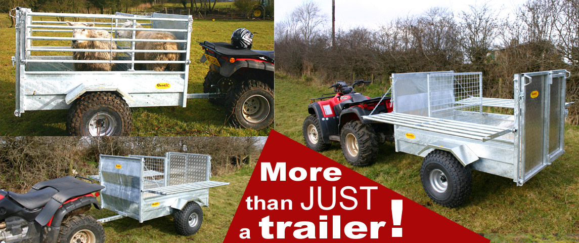 5x3'3 Quad Trailer: Folding Sides