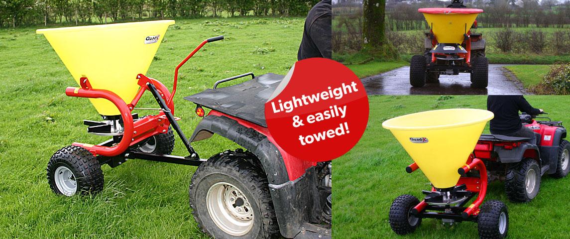 300kg Plastic Hopper Fertiliser Sower - Lightweight + easily Towed.