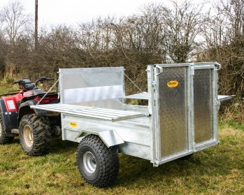 5×3'3 Stock Trailer: Folding Sides