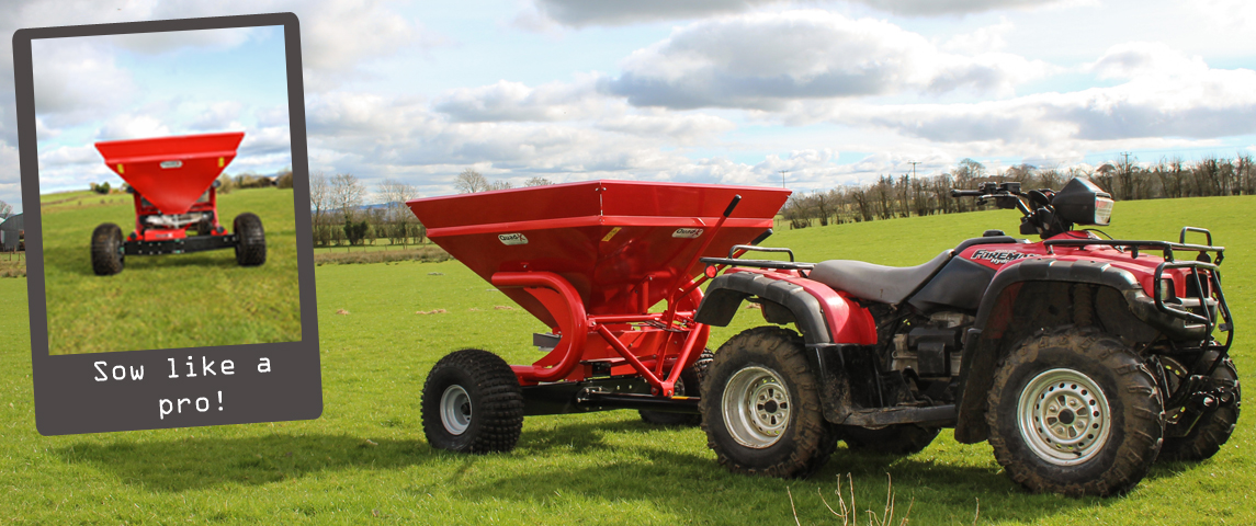 350kg Plastic Coated Fertiliser Sower