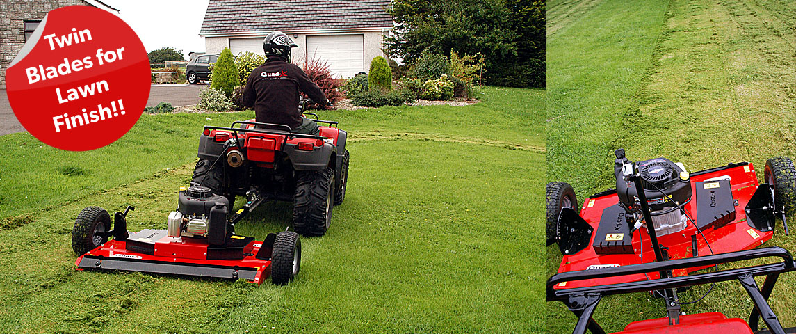 Twin blades for a lawn finish!