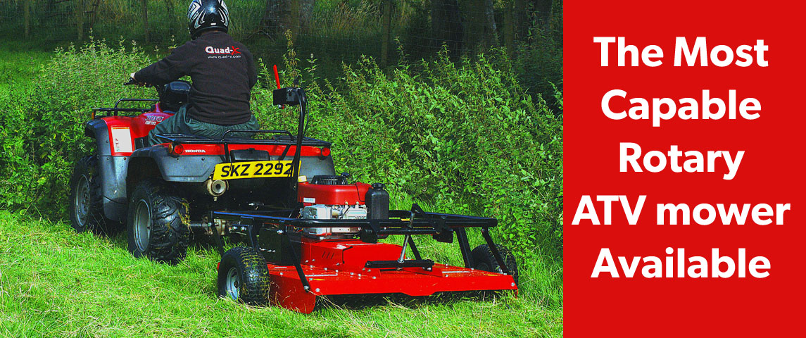 The Most Capable ATV Rotary Mower on the Market!!