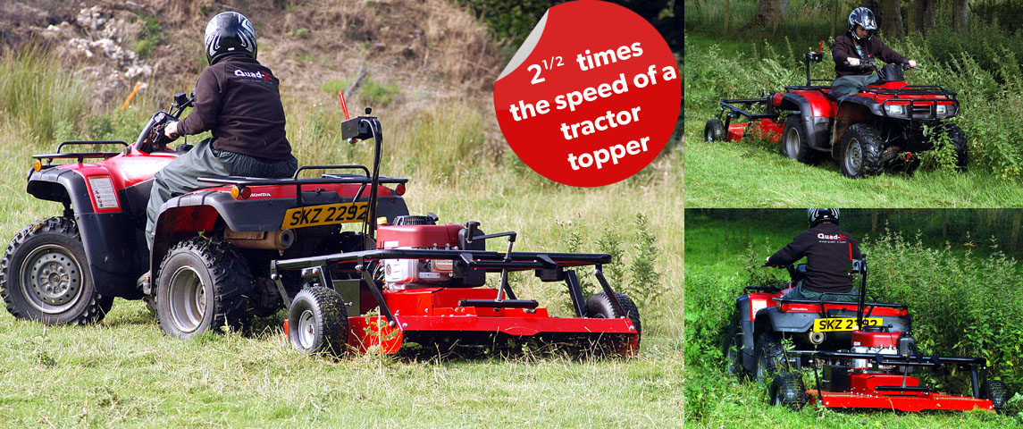 21/2 times the speed of the tractor topper