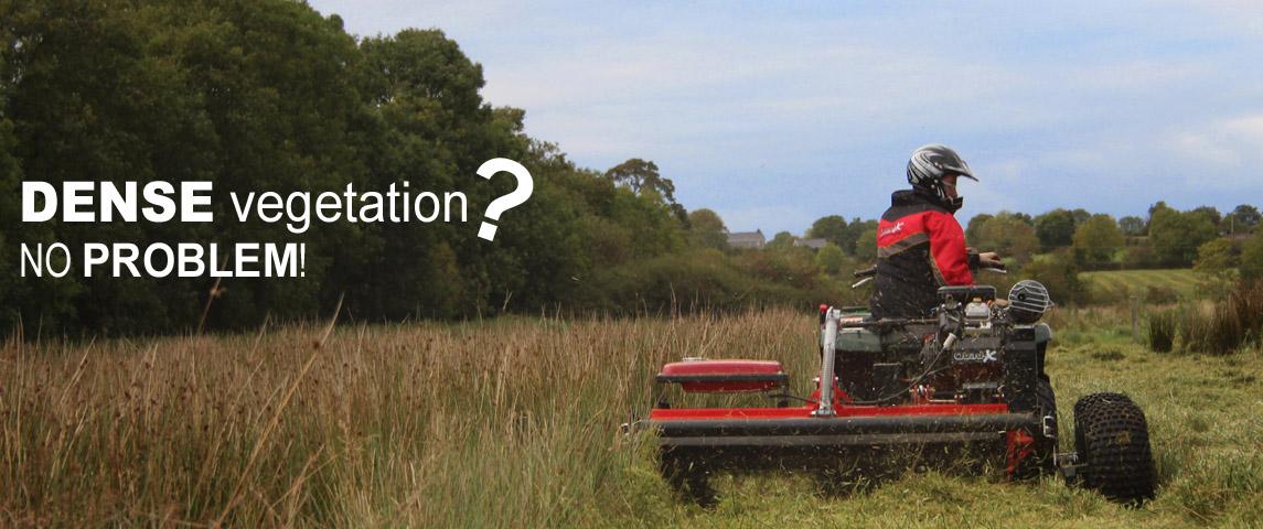 Power Shredder - ideal for dealing with dense vegetation in bog land, marsh land, fenland and lough areas.