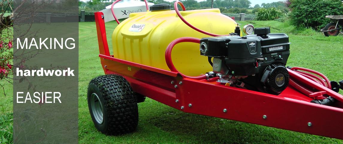 230L Towed Sprayer - Optional 5.5hp engine