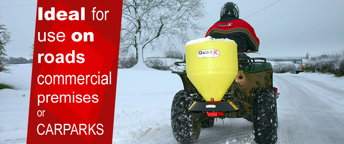 50kg Salt Spreader - Ideal for use on roads, commercial premises and carparks!!