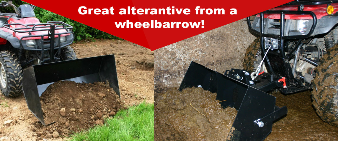 Quad- X Front Bucket - Great Alternative from a wheelbarrow!!