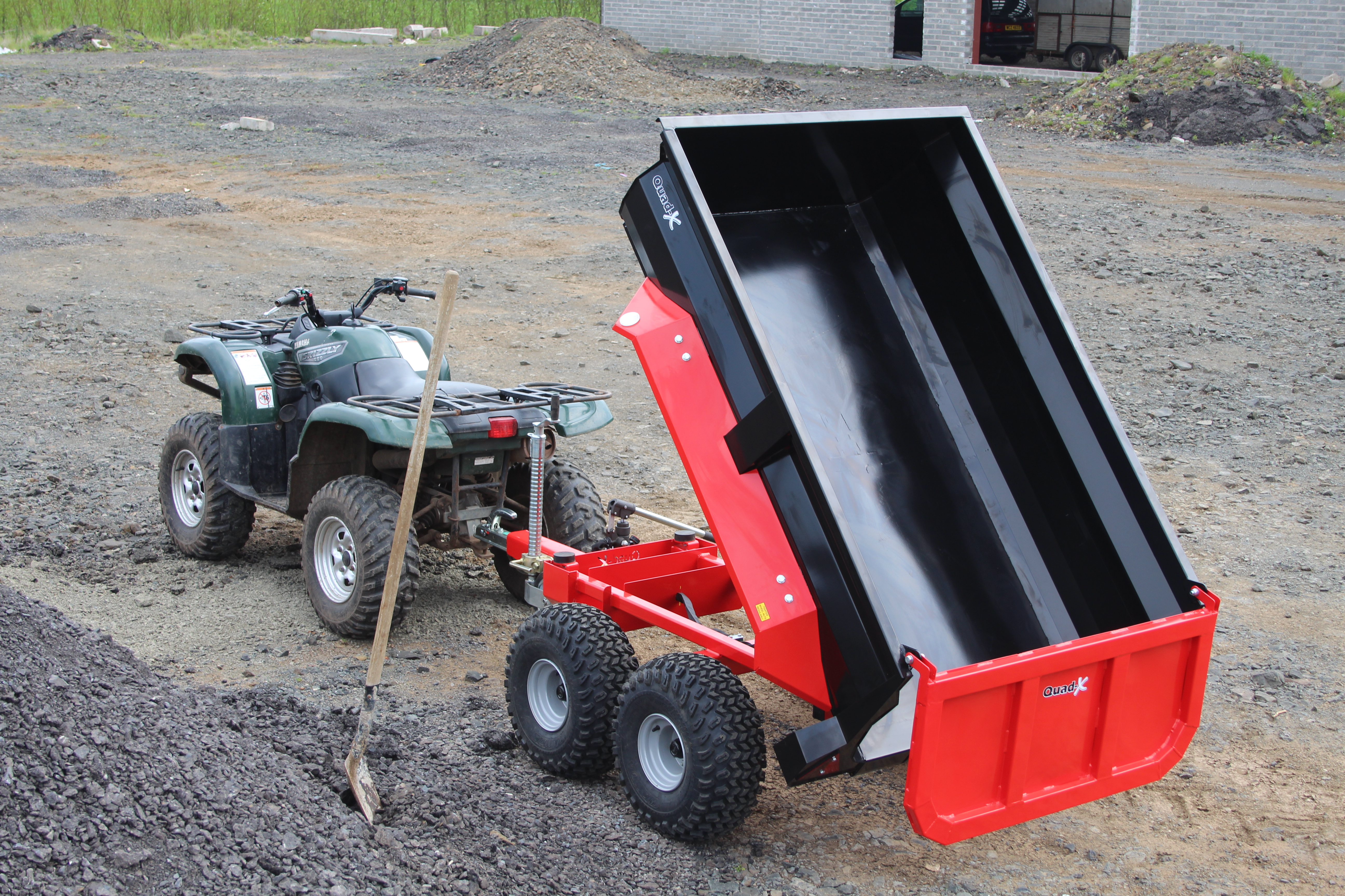quad x launch new dump trailer   quad accessories atv